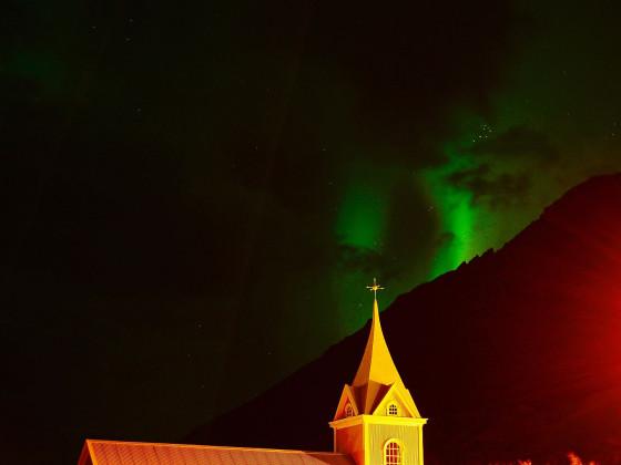 Seyðisfjörður bei Nacht