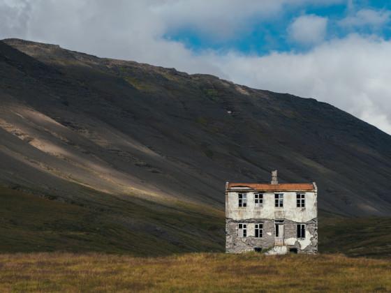Verlassenes Haus in den Westfjorden