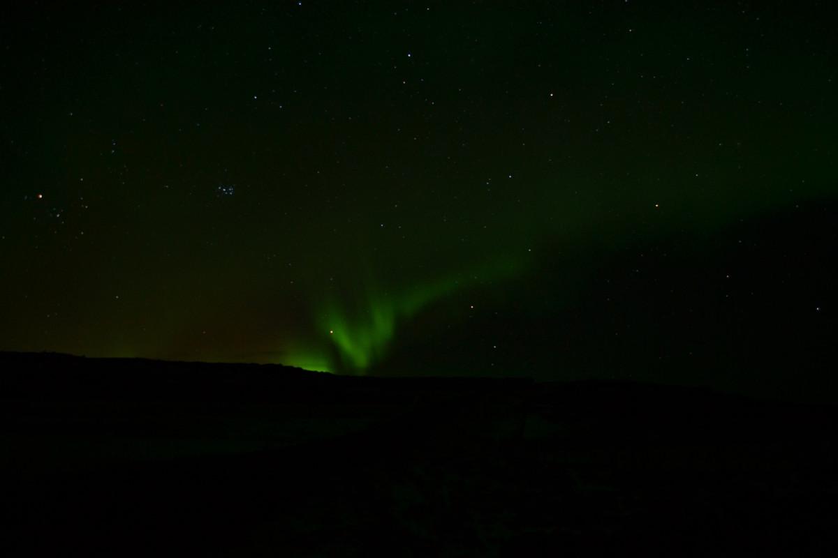 Nordlichter gestern in der Nähe von Sauðárkrókur, Island