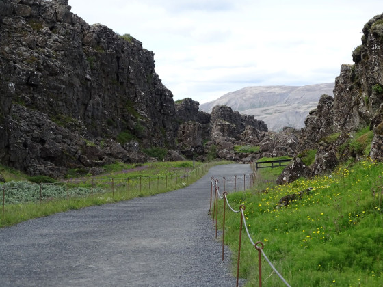 Tag 2 - Þingvellir -  Almannagjá Schlucht