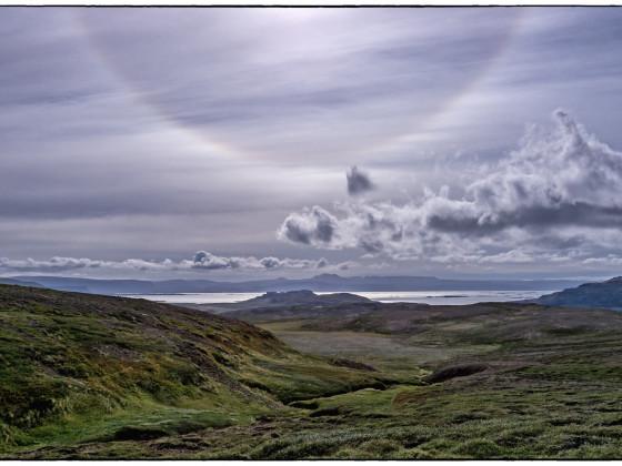 Halo über dem Breiðafjörður
