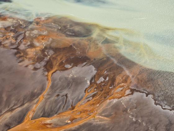 Flussmündung südwestlich Hvolsvöllur