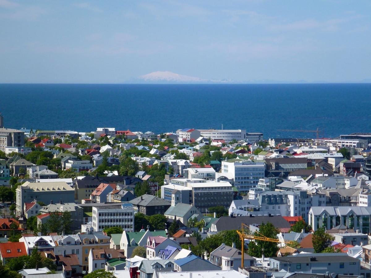 Reyjavik mit Blick auf den Snæfellsjökull