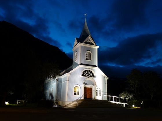 Blaue Kirche von Seyðisfjörður